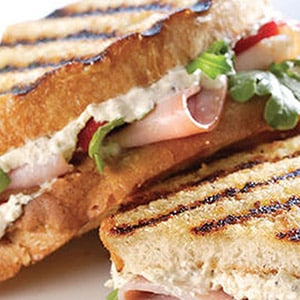 Boursin Panini with Turkey and Ham with Boursin Garlic & Fine Herbs Cheese