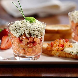 Salmon, Strawberry, and Boursin Cheese with Boursin Basil & Chive Cheese
