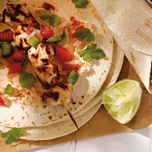 Tequila-lime Chicken Taco with Boursin Red Chili Pepper Cheese